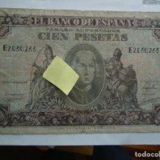 Billetes españoles: BILLETE 100 PTS CRISTOBAL COLON CIEN PESETAS 1940 BANCO ESPAÑA MADRID POSGUERRA. Lote 113568103