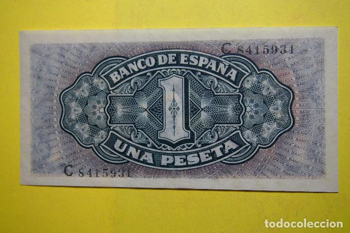 Billetes españoles: BILLETE 1 PESETA BANCO ESPAÑA CARABELA SANTA MARIA. MADRID 4 SEPTIEMBRE 1940 SC PLANCHA RIEUSSET UNA - Foto 2 - 113596123