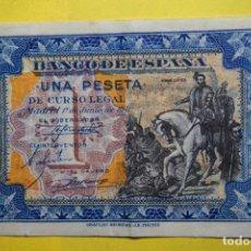 Billetes españoles: BILLETE 1 UNA PESETA BANCO ESPAÑA. HERNÁN CORTÉS. MADRID 1 JUNIO 1940. BONITO -EBC. VER FOTOS. Lote 113596683