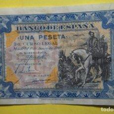 Billetes españoles: BILLETE 1 UNA PESETA BANCO ESPAÑA. HERNÁN CORTÉS. MADRID 1 JUNIO 1940. BONITO -EBC. VER FOTOS. Lote 113597043
