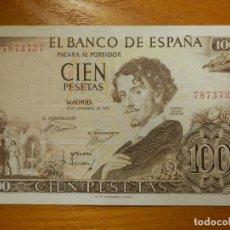 Billetes españoles: BILLETE ESPAÑA - CIEN 100 PESETAS 19 NOVIEMBRE 1965 - BECQUER / EBC - SIN SERIE -. Lote 113720147