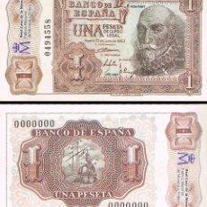 Billetes españoles: BILLETE DE 1 PESETA DE 22 DE JULIO DE 1953, MARQUES DE SANTA CRUZ, REPRODUCCION DE FNMT, PLANCHA. Lote 113953819