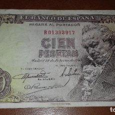 Billetes españoles: BILLETE DE 100 PESETAS 19 FEBRERO 1946 GOYA SERIE B . Lote 114606883
