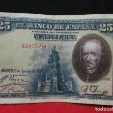 Billetes españoles: 25 PESETAS 15 AGOSTO 1928 EN BUENA CONSERBACION. Lote 114902603