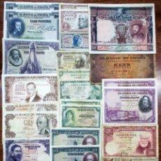 Billetes españoles: 30 BILLETES ESPAÑOLES: ALFONSO XIII, 2ª REPUBLICA Y DEL ESTADO ESPAÑOL. LOTE 0662. Lote 114919859
