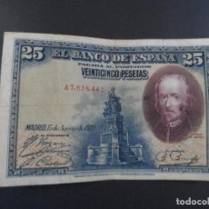 Billetes españoles: BILLETE 25 PESETAS BANCO DE ESPAÑA. AÑO 1928. Lote 115049783
