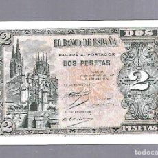 Billetes españoles: BILLETE. EL BANCO DE ESPAÑA. 2 PESETAS. BURGOS. 1937. PLANCHA. VER. SERIE B. Lote 115167111