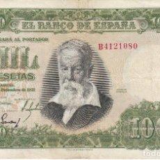 Billetes españoles: BILLETE DE 1000 PESETAS DEL AÑO 1951 DEL PINTOR JOAQUIN SOROLLA SERIE B EN BUENA CALIDAD . Lote 115244531