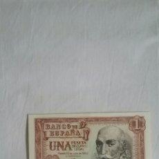 Billetes españoles: BILLETE 1 PESETA. SERIE 1E * EMISIÓN 22 DE JULIO DE 1953 * MARQUÉS DE SANTA CRUZ *. Lote 115258020