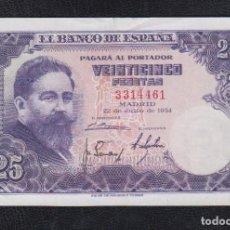 Billetes españoles: EDIFIL 467.- 25 PTAS 22 DE JULIO DE 1954 SIN SERIE CONSERVACIÓN MBC-. Lote 115276675