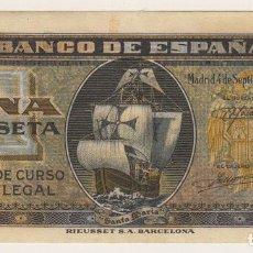 Billetes españoles: 1 PESETA DE SEPTIEMBRE 1940 EBC+ SERIE B. Lote 115300283