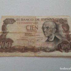 Billetes españoles: BILLETE DE 100 PESETAS DE 1970 SERIE 9A. Lote 115473263