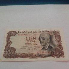 Billetes españoles: BILLETE DE 100 PESETAS DE 1970 SERIE 9A. Lote 115473375
