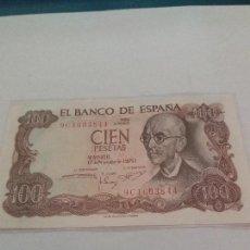 Billetes españoles: BILLETE DE 100 PESETAS DE 1970 SERIE 9C SIN CIRCULAR. Lote 115473475