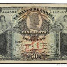 Billetes españoles: BANCO DE ESPAÑA. 50 PESETAS. 15 JULIO 1907. CATEDRAL DE BURGOS. ED-319. EBC-. Lote 115630407
