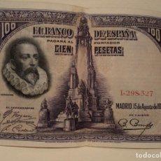 Billetes españoles: BILLETE 100 PESETAS 1928 SIN SERIE MUY BUEN ESTADO. Lote 115672659