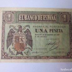 Billetes españoles: PESETA. FEBRERO DE 1938.. Lote 115704927