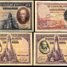 Billetes españoles: LOTE 4 BILLETES ESPAÑA. Lote 116203223
