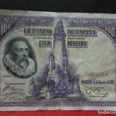Billetes españoles: 100 PESETAS 15 DE AGOSTO 1928 OJO SIN SERIE . Lote 116353531