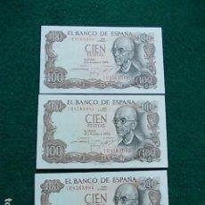 Billetes españoles: 3 BILLETES CORRELATIVOS PLANCHA MANUEL DE FALLA . Lote 116439903