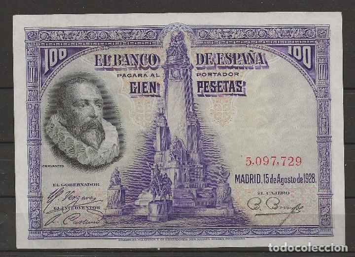 R35/ BILLETE DE 100 PESETAS, 1928 (Numismática - Notafilia - Billetes Españoles)