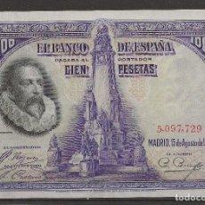 Billetes españoles: R35/ BILLETE DE 100 PESETAS, 1928. Lote 116452139