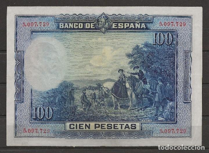 Billetes españoles: R35/ BILLETE DE 100 PESETAS, 1928 - Foto 2 - 116452139