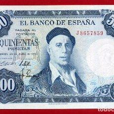 Billetes españoles: BILLETE 500 PESETAS 1954 , PLANCHA , SERIE J , ORIGINAL , T859. Lote 117216707