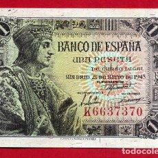 Billetes españoles: BILLETE 1 PESETA 1943 , PLANCHA , SERIE K , ORIGINAL , T370. Lote 117221467