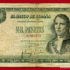 Billetes españoles: BILLETE 1000 PESETAS 1949 , MBC- , SIN SERIE , ORIGINAL , T972. Lote 117224351