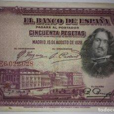 Billetes españoles: BILLETE CINCUENTA 50 PESETAS 1928 SERIE E. Lote 117471943