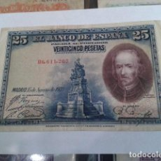 Billetes españoles: BILLETE 25 PESETAS 1928 SERIE Nº B6,611,263 CIRCULADO CONSERVADO. Lote 117579515
