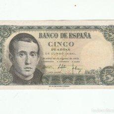 Billetes españoles: 5 PESETAS- 16 DE AGOSTO DE 1951-SC. Lote 117869323