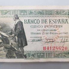 Billetes españoles: BILLETE 5 PESETAS 1945 CAPITULACIONES DE SANTA FE. Lote 117919278