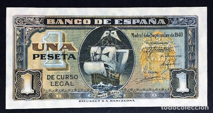 CMC 1 PESETA 4 SEPTIEMBRE 1940 SIN SERIE SIN CIRCULAR (Numismática - Notafilia - Billetes Españoles)