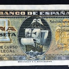 Billetes españoles: CMC 1 PESETA 4 SEPTIEMBRE 1940 SIN SERIE SIN CIRCULAR. Lote 119264603