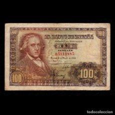 Billetes españoles: 100 PESETAS 1948, SERIE B. Lote 119396827