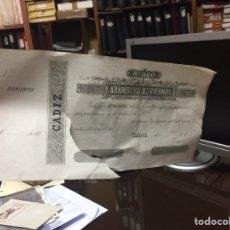 Billetes españoles: BILLETE DE 500 REALES , CADIZ(HERMANOS ARAMBURU) ROTO LA MITAD DEL BILLETE. Lote 120016723