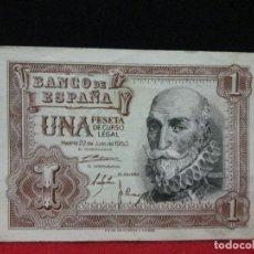 Billetes españoles: 1 PESETA MADRID 22 DE JULIO DE 1953 SIN CIRCULAR SERIE N. Lote 120240331