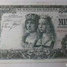 Billetes españoles: BILLETE 1000 PESETAS 1957 REYES CATOLICOS. Lote 120804727