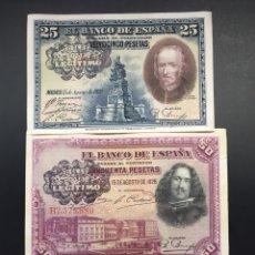 Billetes españoles: LOTE 3 BILLETES PESETAS 1925 1928 BANCO LEGITIMO MUY RAROS REF 74257. Lote 133173450