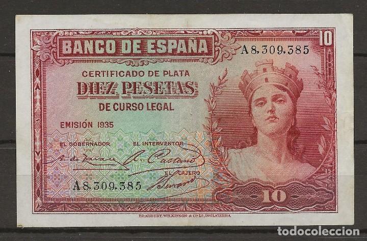 R41/ BILLETE DE 10 PESETAS, 1935 (Numismática - Notafilia - Billetes Españoles)