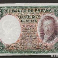 Billetes españoles: R41/ BILLETE DE 25 PESETAS, 1931. Lote 120892279