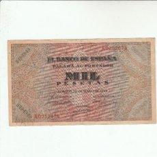 Billetes españoles: 1000 PESETAS-BURGOS-20 DE MAYO DE 1938. Lote 121222299