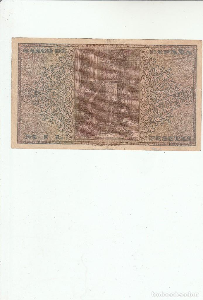 Billetes españoles: 1000 PESETAS-BURGOS-20 DE MAYO DE 1938 - Foto 2 - 121222299