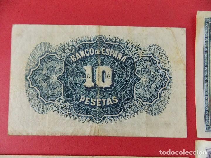 Billetes españoles: LOTE 6 BILLETES REPUBLICA ESPAÑOLA - 10 , 25, 50, 100 PESETAS - CALIDAD MBC - (VER FOTOS)... R-9230 - Foto 3 - 121338743