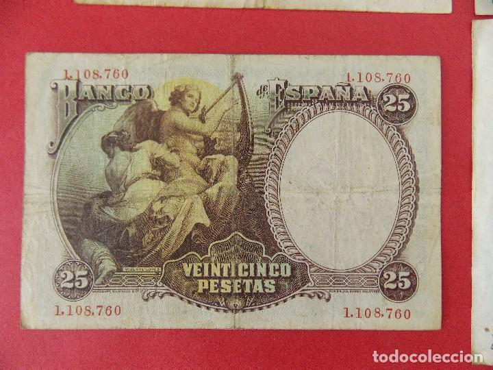 Billetes españoles: LOTE 6 BILLETES REPUBLICA ESPAÑOLA - 10 , 25, 50, 100 PESETAS - CALIDAD MBC - (VER FOTOS)... R-9230 - Foto 5 - 121338743