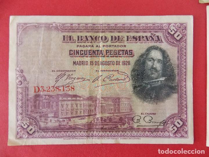 Billetes españoles: LOTE 6 BILLETES REPUBLICA ESPAÑOLA - 10 , 25, 50, 100 PESETAS - CALIDAD MBC - (VER FOTOS)... R-9230 - Foto 6 - 121338743