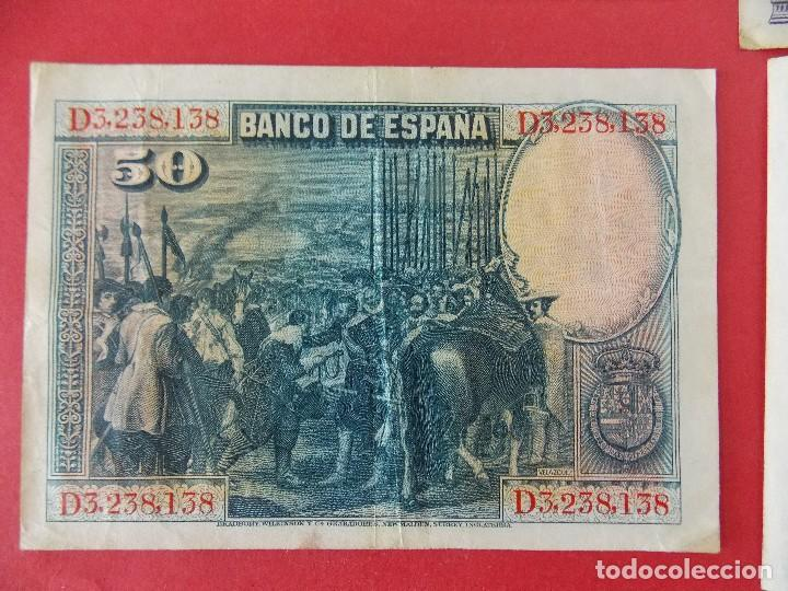 Billetes españoles: LOTE 6 BILLETES REPUBLICA ESPAÑOLA - 10 , 25, 50, 100 PESETAS - CALIDAD MBC - (VER FOTOS)... R-9230 - Foto 7 - 121338743