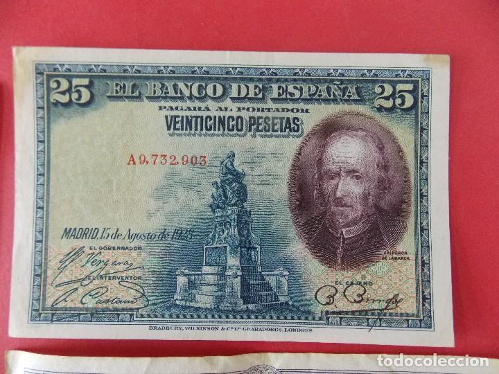 Billetes españoles: LOTE 6 BILLETES REPUBLICA ESPAÑOLA - 10 , 25, 50, 100 PESETAS - CALIDAD MBC - (VER FOTOS)... R-9230 - Foto 8 - 121338743